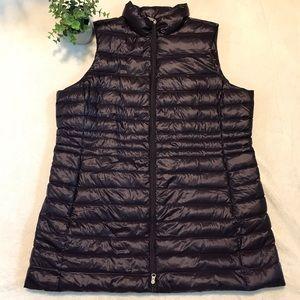 Lands' End purple puffer (packable) vest size 1X